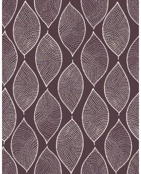 Leaf Mosaic Aubergine